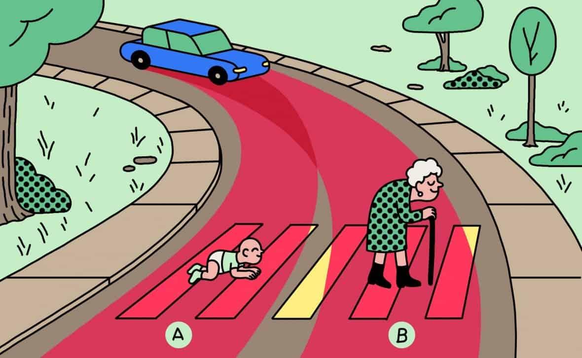 هل يجب على السيارة ذاتية القيادة أن تدهس الطفل أم الجدة؟ هذا يعتمد على مسقط رأسك