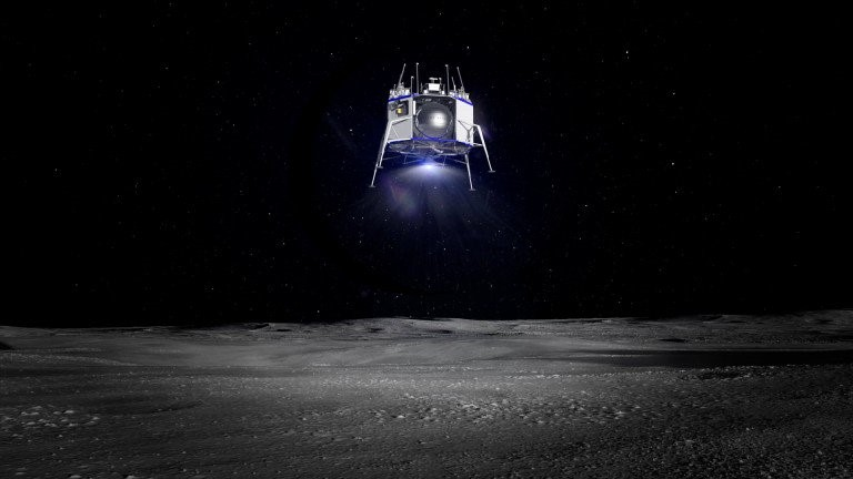لقد كُشف الستار عن مركبة الهبوط القمرية من بلو أوريجين
