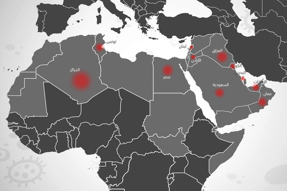 تحديث: مستجدات انتشار كورونا في العالم العربي