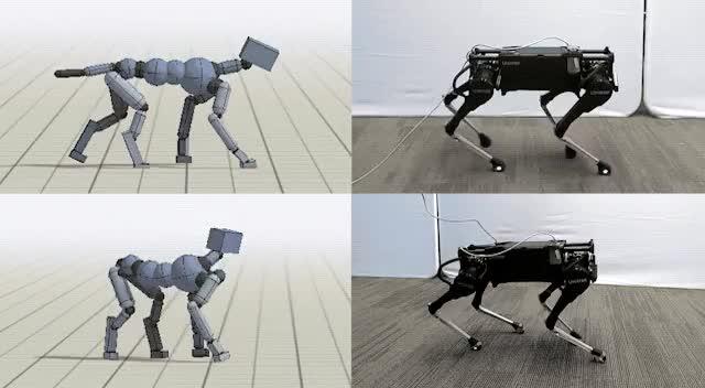 جوجل تدرب كلباً روبوتياً على تعلم حيل جديدة عبر تقليد كلب حقيقي