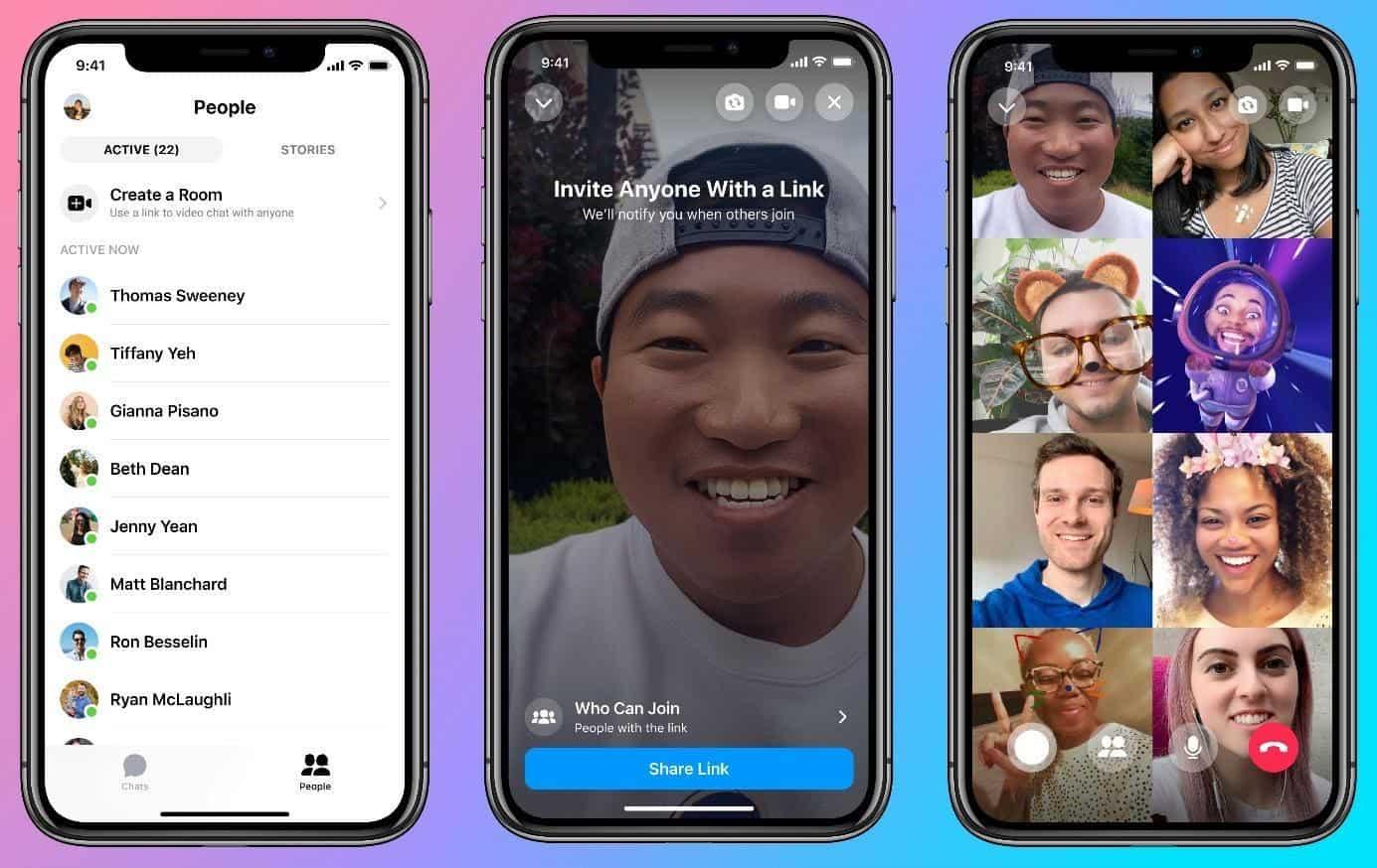 فيسبوك تطلق خدمة التواصل عبر الفيديو بين 50 شخصاً عبر منصاتها