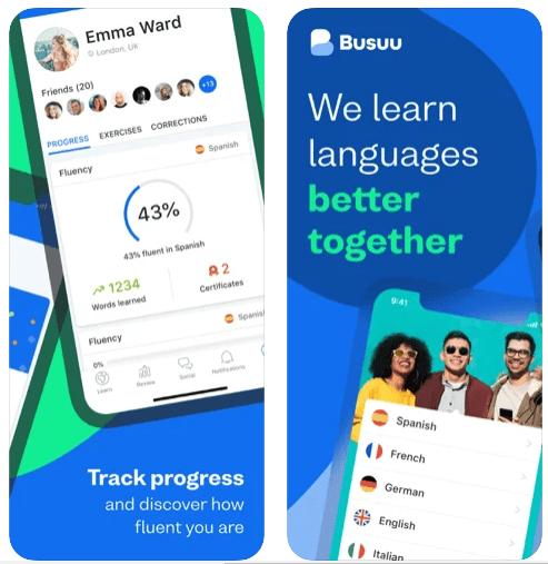 تطبيق بوزو (Busuu)