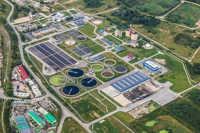 محطة لمعالجة مياه الصرف الصحي