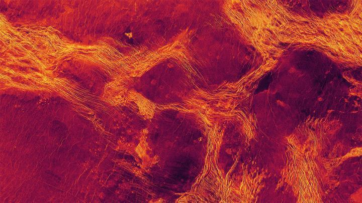 منظر راداري بالألوان الزائقة للافينيا بلانيشيا